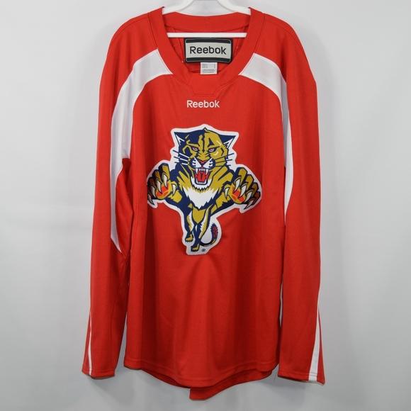 watch df1b1 d2951 REEBOK Mens Large Florida Panthers Hockey Jersey